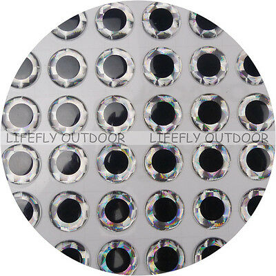 17mm Silver / Wholesale 350 Soft Molded 3D Holographic Fish Eyes, Fly, Jig, Lure