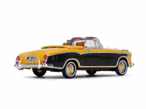 1958 MERCEDES BENZ 220 SE CABRIOLET YELLOW 1//43 DIECAST MODEL BY VITESSE 28626