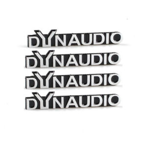 RunQiao 4 x DYNAUDIO Audio Speaker Logo Emblem Badge Stickers