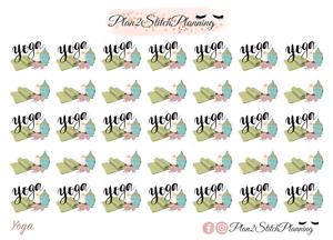Yoga Icon /& Script Planner Stickers//Erin Condren Stickers//Happy Planner