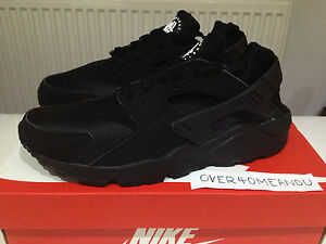 huge selection of d193a 340b9 Image is loading NEW-NIKE-AIR-HUARACHE-LE-034-TRIPLE-BLACK-