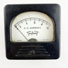 Vintage Triplett Square Panel Meter Gauge Model 337 A Ac Amperes 0 10 Untested