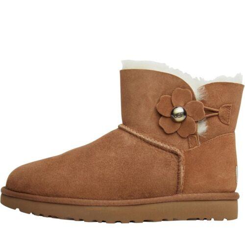 Ugg 5 Uk Womens Boots 7 Eu Poppy 40 Bailey Button Chestnut Australia Nuovo Mini TvqwfxZTd