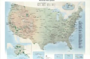 Details about Map of the National Park System of the United States of  America, NPS -- Postcard