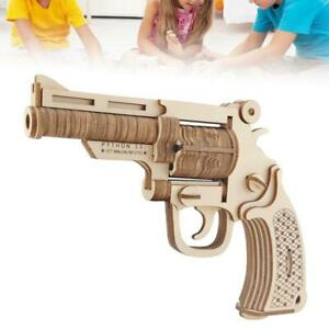 Details About 3d Wooden Toys Gun Pistol Model Diy Assembly Kit Puzzle Handmade Model Toy