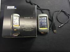 GARMIN Dakota 10 Handheld Touchscreen GPS Receiver Navigator A2941