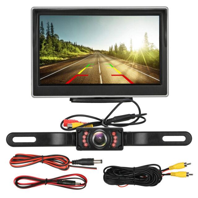 "Car Backup Camera Rear View HD Parking System w// Night Vision+5/"" TFT LCD Monitor"