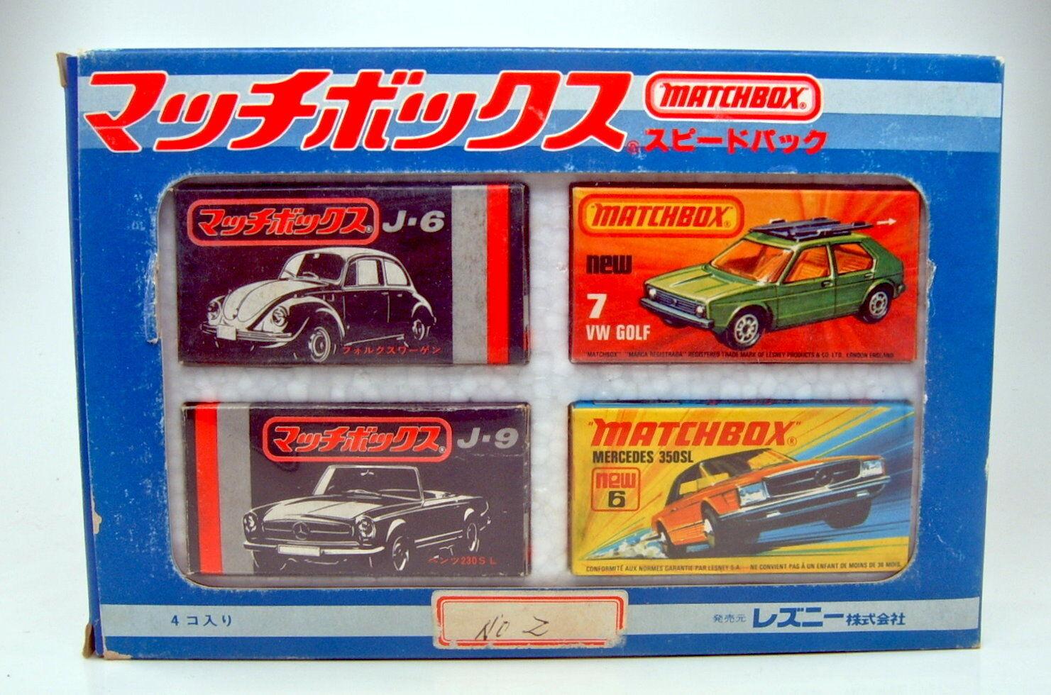 MATCHBOX SUPERFAST GIFTSET Giappone 1977 MOLTO RARO