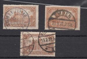 Deutsches Reich, N. 114a, B e C, timbrato, esaminati inaspri
