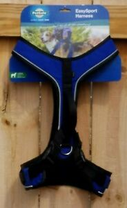 Details about PetSafe EasySport Harness Reflective Padded Harness with  Handle Size L (Blue)