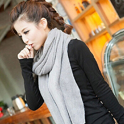 Women's Winter Warm Hand Knitting Soft Shawl Cowl Wrap Crochet Long Scarf