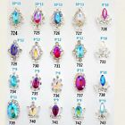 NEW CRYSTAL RHINESTONES NAIL ART DECOR DIY 3D CHARM ALLOY SILVER GEMS JEWELLERY