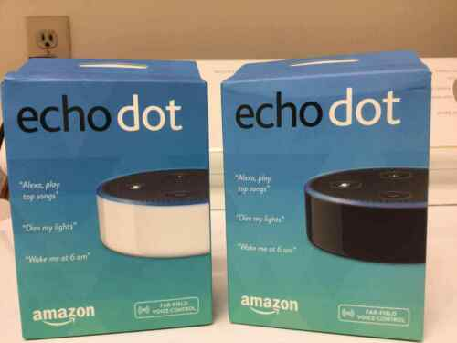 New Amazon Echo Dot 2nd Generation w// Alexa Voice Media Device black white