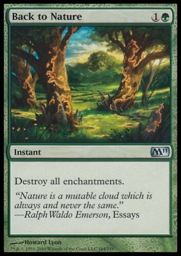 ALLEMAND * MTG 4x Back to Nature-m11