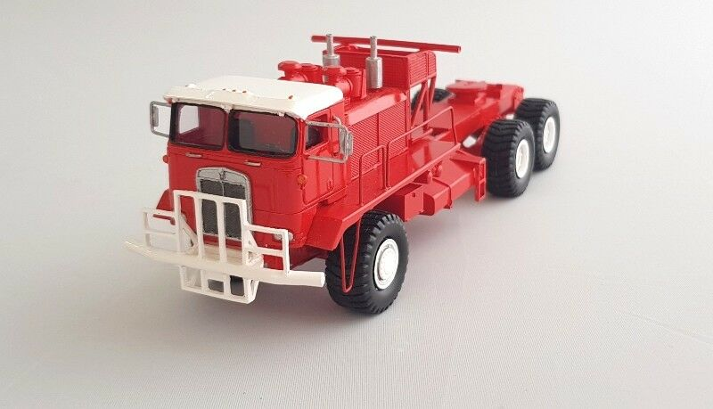 Ho 1 87 Kenworth 993 COE Oilfield-Rojo-Ready Made Modelo De Resina