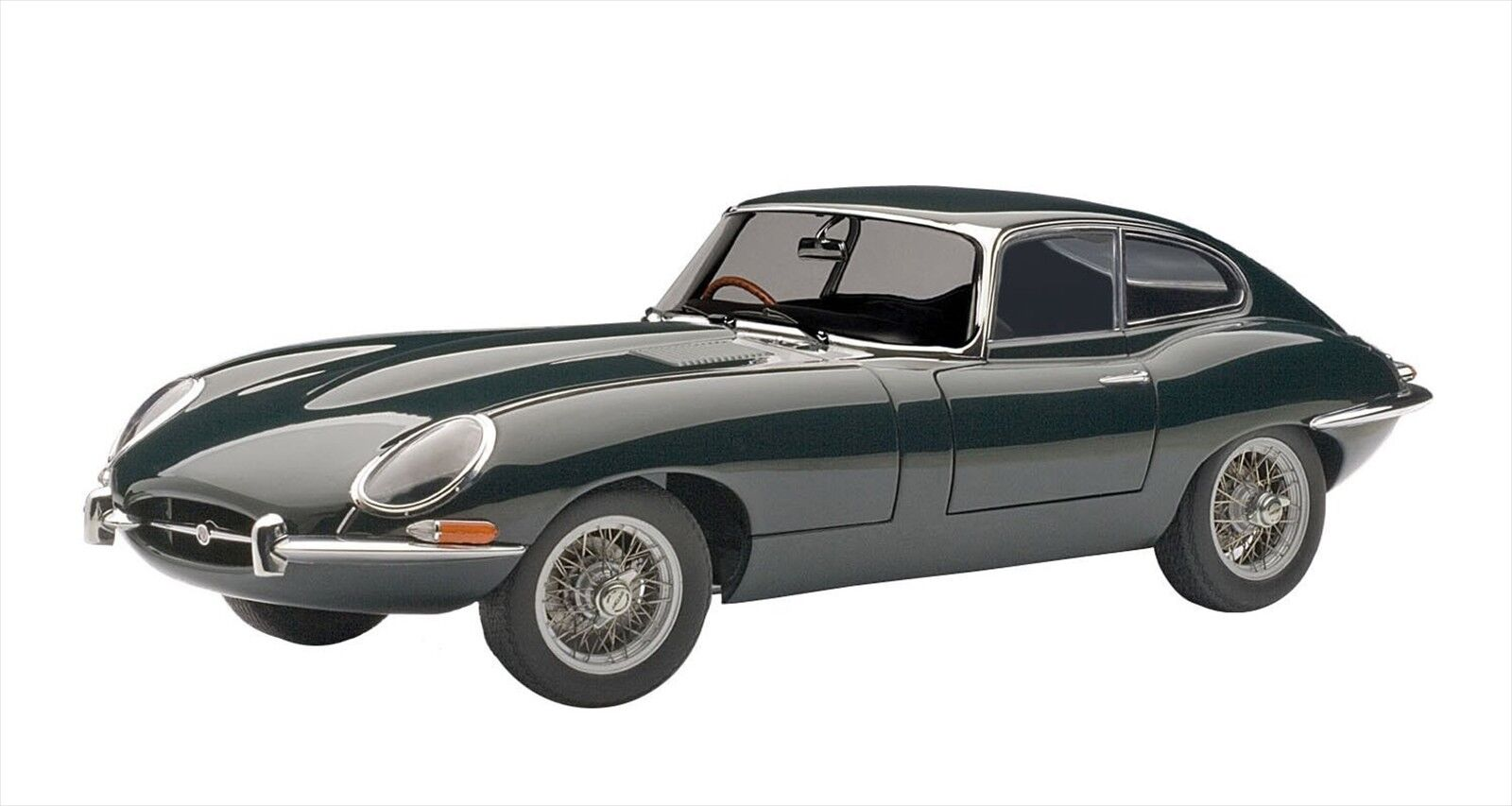 1961 Jaguar E-Type 3.8 Coupe Series 1/Racing Green 1:18 AUTOart 73612 NEW