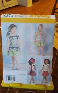 Oop-Simplicity-1627-girls-summer-top-laced-back-frilled-skirt-sz-3-8-NEW
