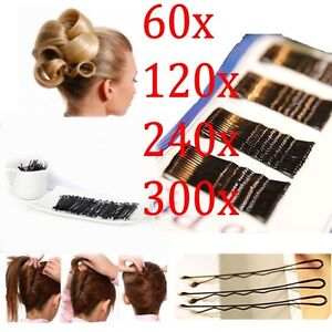 300-Black-Bobby-Kirby-Pins-Hair-Grips-Clips-Salon-Styling-Slides-Waved-Clamps