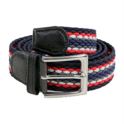 Cintura Uomo Elastica Blu Intrecciata Cinta Elegante Elasticizzata Stretch Corda
