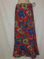 Lf Store Ruby Rocks Long Skirt Multi Color Floral Print Size X-small