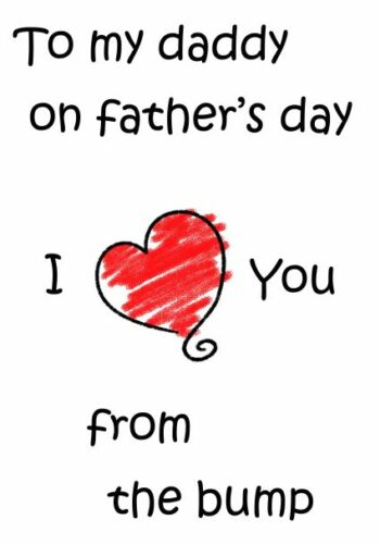 A5 Personalised Greeting Card Fathers Day Card From The Bump PIDDAD5