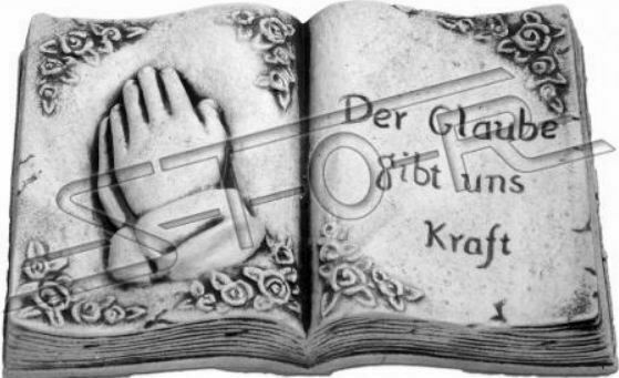 Testo tomba la fede ci dà forza tomba gioielli pietra decorazione statua Personaggio