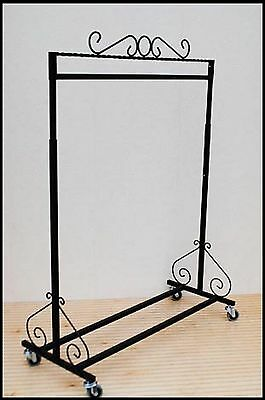 Boutique Single Bar Rolling Clothing Garment Retail Display Clothes Rack CC-10