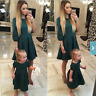 Mother and Daughter Women Girls Summer Dress Party Dress Family Matching Outfits