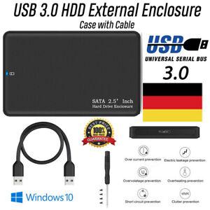 Fuer-2-TB-tragbares-externes-Festplattengehaeuse-USB3-0-SATA-High-Speed-Schwarz