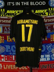 info for 4aa7d 4a578 Details about 5/5 BVB Borussia Dortmund adults XXXL 2016 #17 Aubameyang  football shirt jersey