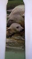 Polar Bear Cub Sublimation Socks Wild Habitat Adult One Size Fits Most Usa Made