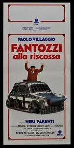 Plakat Fantozzi Die die Rettung Paolo Dorf Panzer Schwarz Verwandten N79