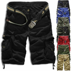 Mens-Cargo-Shorts-Combat-Work-Summer-Pockets-Army-Casual-Pants-Trousers-Sz-29-36