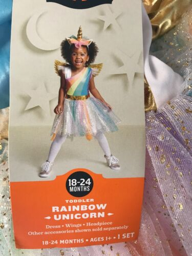 Rainbow Unicorn Toddler Costume Size 18-24 Months NEW Target Hyde and Eek