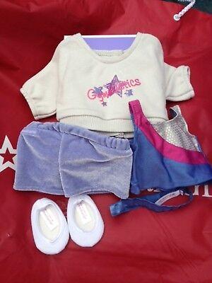 American Girl 2 in 1 Gymnastics Outfit NIB Sweatshirt Top Headband Slippers