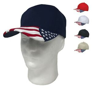 0c075a01a21d Patriotic USA US Flag Stars Racing 6 Panel Baseball Cotton Hats Caps ...
