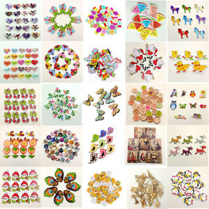 KQ-Wholesale-100pcs-2-Holes-Wooden-Sewing-Heart-Shape-Button-Craft-Scrapbooking