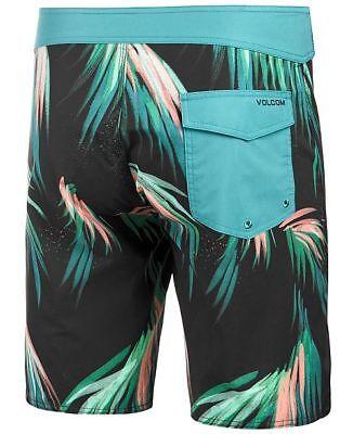 NEW VOLCOM board shorts Big Mon black geometric swim 4 way stretch  32 33 36 38