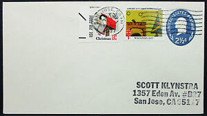 US-Stationery-Cover-American-Lung-Association-Christmas-Scott-GS-Letter-I-8611