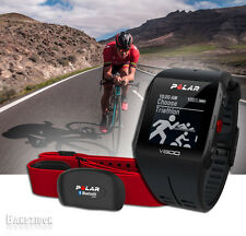 Black Polar V800 GPS Sport Watch w/H7 Bluetooth HRM Running Triathlon Computer