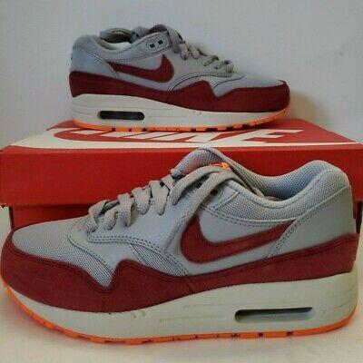 Nike Wmns Air Max 1 Essential Wolf Grey Team Red 599820 015