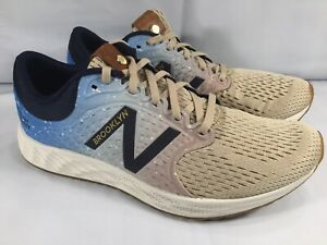 Clothing, Shoes & Accessories Intellective New Balance Men's Fresh Foam Zante V4 Brooklyn Half Beige/blue/gum Mzantbr4 11 Meticulous Dyeing Processes