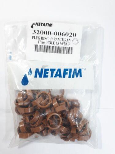 Netafim Goutteur d/'irrigation goutte à goutte Poly Tube Tuyau Trou FOFOLLE plug ring 17 mm 20 mm