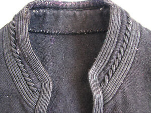 Antique-Primitive-Woman-Costume-Vest-Yelek-Hand-Made-Pure-Wool-Ottoman-Era-19th