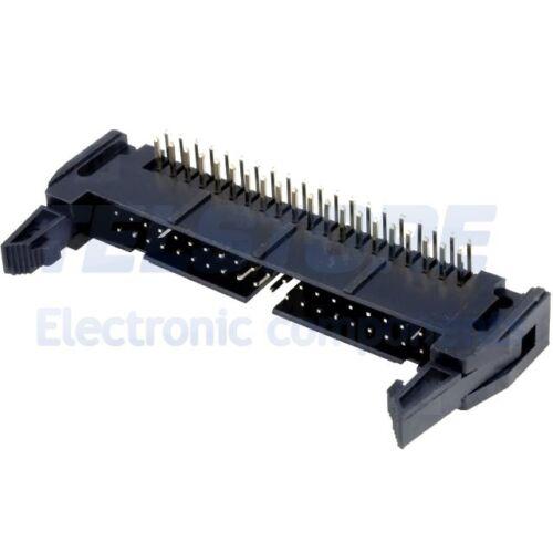2 Connettore IDC maschio 40 poli angolo 90° con fermo per cavo piatto ribbon