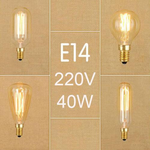 Vintage 40W E14 Edison bulbs Retro Incandescent screw Bulb G45 ST48 T45 globe