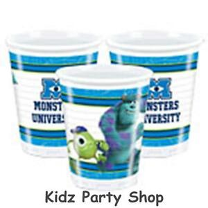 Monster-University-Inc-Party-8-Plastic-Cups-200ml-Free-Postacge-in-UK