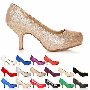 NEW-WOMENS-LADIES-MID-HEEL-CASUAL-SMART-WORK-PUMP-COURT-SHOES-SIZE-3-8