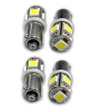4X T11 BA9S T4W H6W 1985 363 White 5050 SMD 5 LED Car Wedge Side Light Bulb Lamp