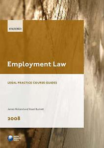 Details about Employment Law (Blackstone Legal Practice Course Guide),  Holland, James & Burnet